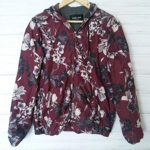 Obey | Floral Hooded Windbreaker Jacket
